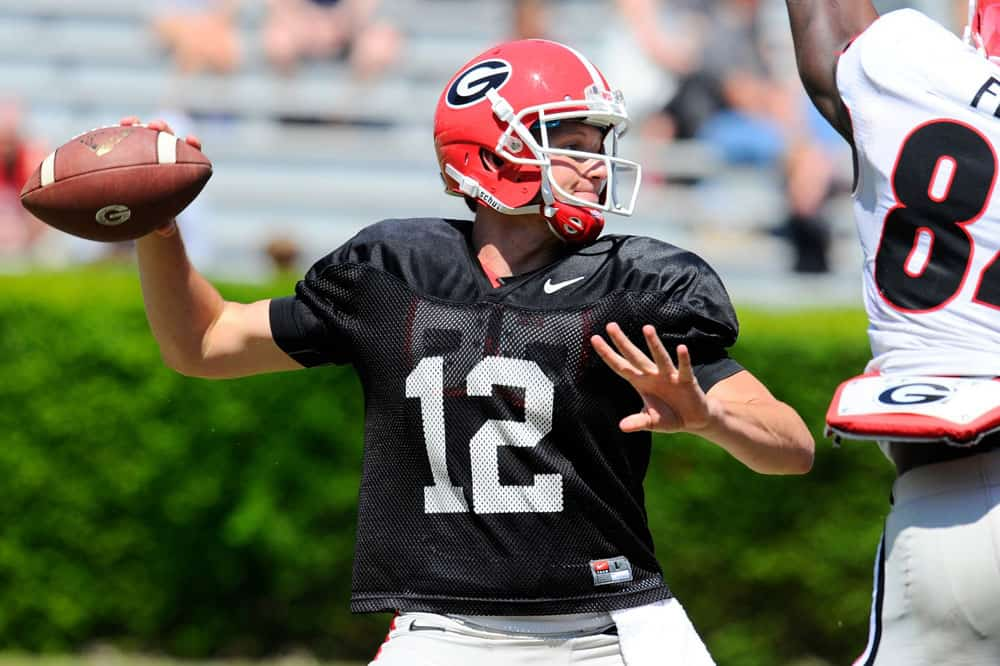 Brice Ramsey at the G-Day game. (Dale Zanine-USA TODAY Sports)