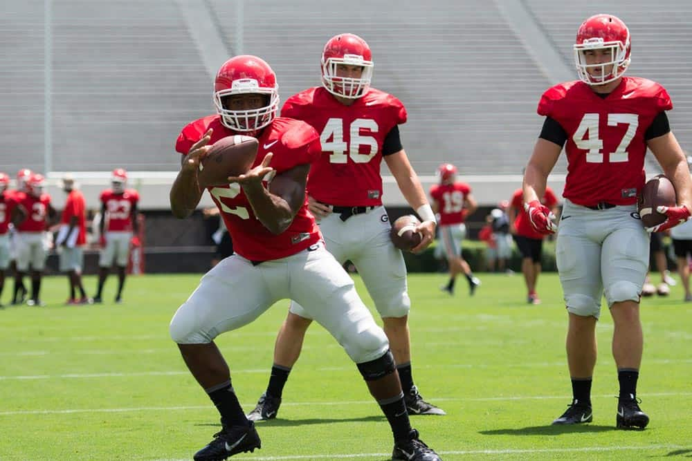 Uga Football Depth Chart For North Carolina Released By Kevin Kelley Aug 29 2016 Nick Chubb