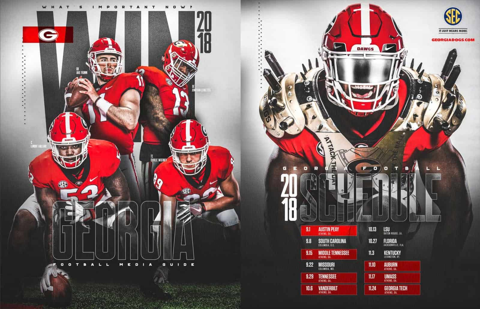 2018 Uga Football Media Guide Available To View Online